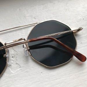 Vintage octagon gold frame sunglasses